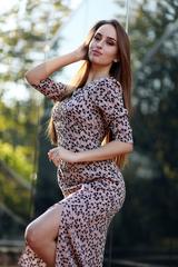 Платье с разрезом спереди миди nadya