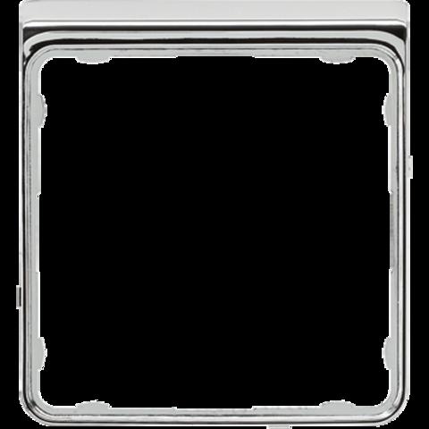 Внешняя цветная рамка. Цвет Хром. JUNG CD PLUS. CDP82GCR