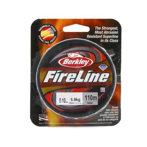 Плетеная леска Berkley Fireline 110M Темносерая 0,10mm Smoke