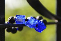 Браслет Murano Flex Cubo черно-синий