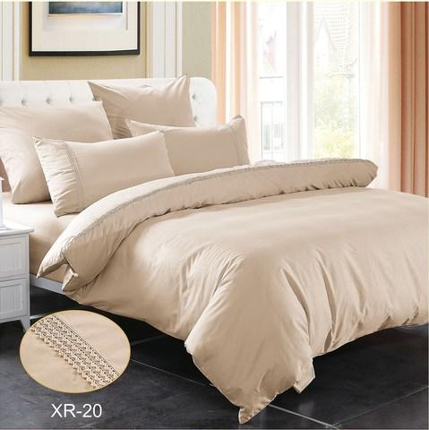 2-Спальное однотонное постельное белье какао