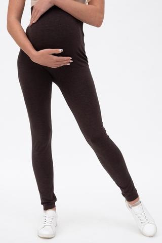 Леггинсы для беременных 11522 серо-коричневый