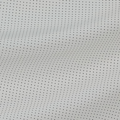 Шёлковый крепдешин белого цвета в черную мушку
