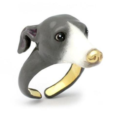 Кольцо Левретка (серая)