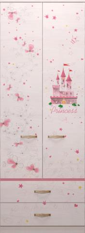 Шкаф для одежды с ящиками 20 Принцесса-2
