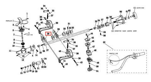 Кронштейн  для лодочного мотора T2 SEA-PRO
