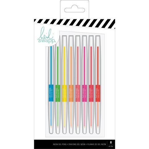 Гелевые неоновые цветные ручки. Heidi Swapp Memory Planner Gel Pens- Color Fresh, Neon -8 шт