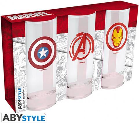 Бокал ABYstyle: MARVEL: Avengers Captain America & Iron Man набор 3шт.