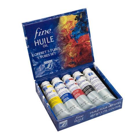 Набор масляных красок Lefranc&Bourgeois FINE Huile (5 х 40 мл)