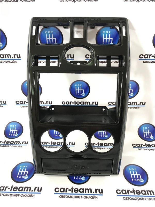 Центральная консоль 2 DIN на Лада Приора 1, черный лак