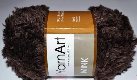 Пряжа YarnArt Mink - (333 - коричневый)