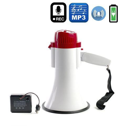 MG-206RUL/wr ручной мегафон 15Вт, сирена, mp3, Li аккумулятор