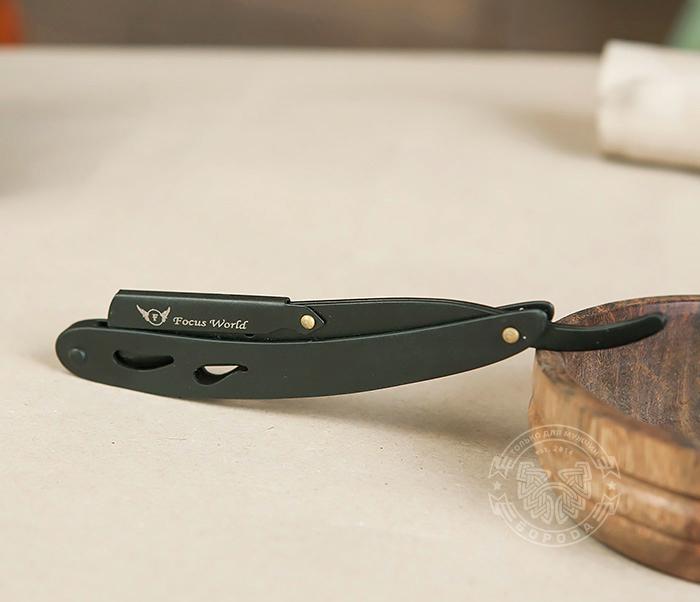RAZ230 Оригинальная бритва шаветка черного цвета из стали фото 02