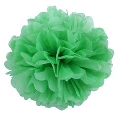 Помпон из бумаги 20 см, светло-зеленый