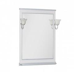 Зеркало Aquanet Валенса 70 белый краколет серебро