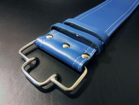 3-х слойный пояс для пауэрлифтинга с удобной пряжкой-зацепом (синий) пряжка