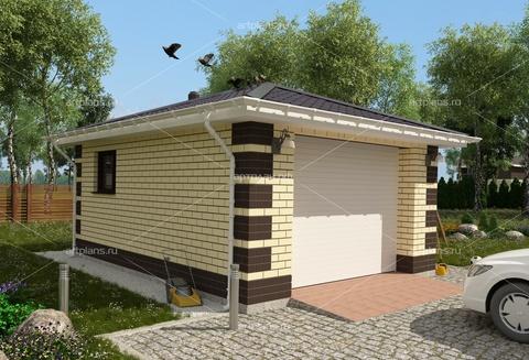 Проект гаража на 1 машину