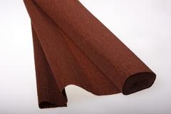 Бумага гофрированная простая коричневый (568), 50 см./250 см.