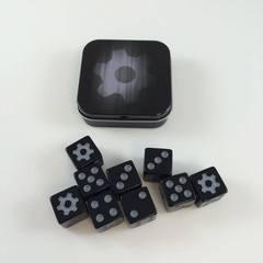 Legion Supplies - Iconic Gear 9 шестигранных кубиков в железной коробочке