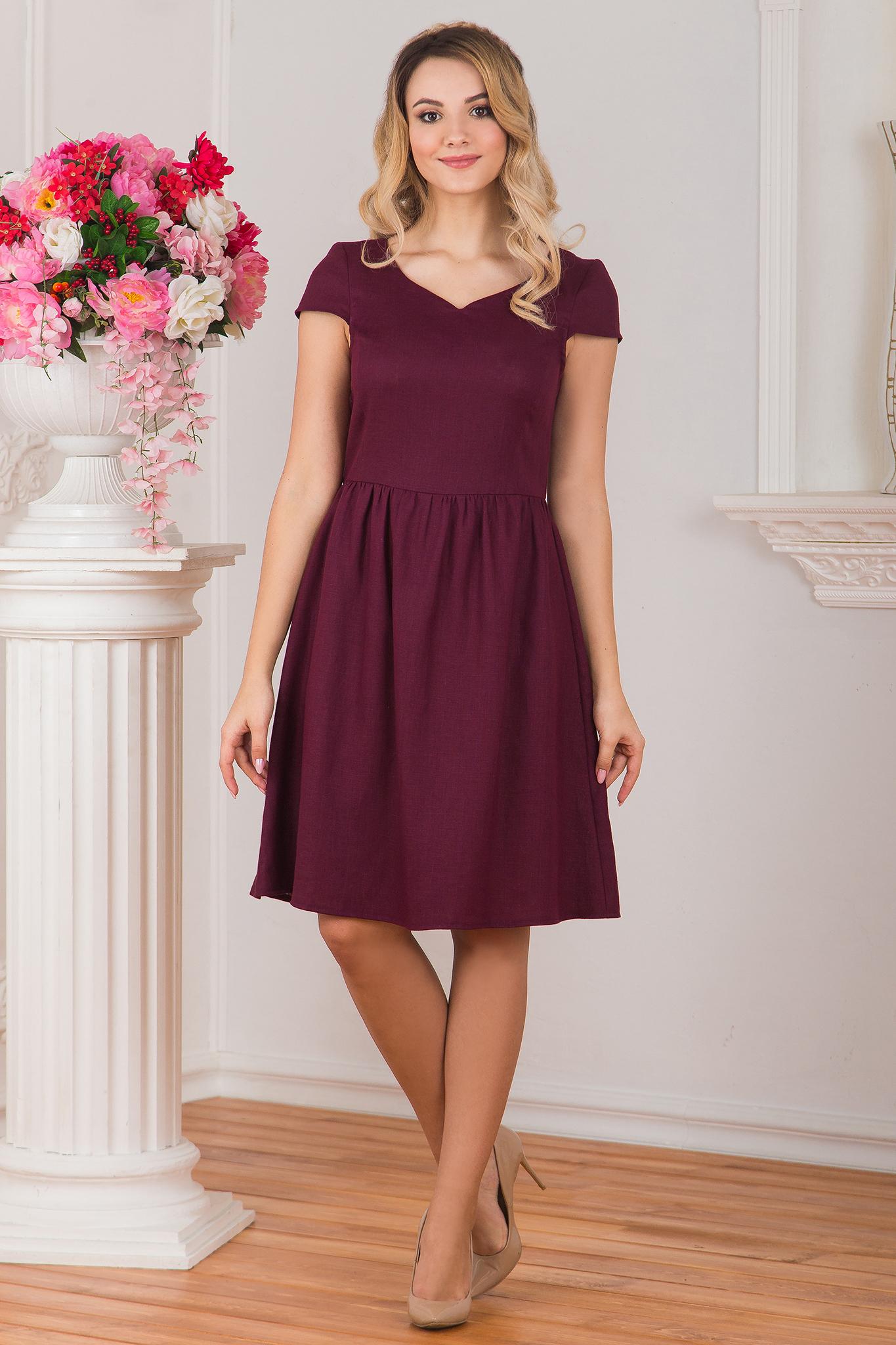 Платье льняное Черешня