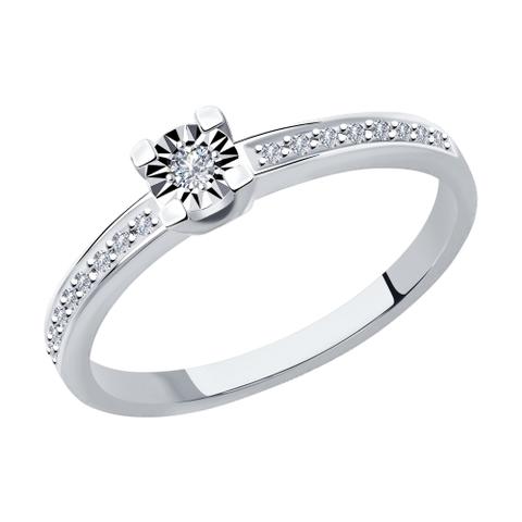1012023 - Кольцо из белого золота с бриллиантами