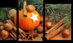 """Модульная картина """"Апельсин с корицей"""""""