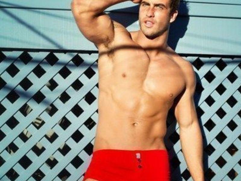 Мужские шорты красные  Aussiebum Freedom Shorts Red