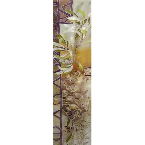 Шерстяной шарф батик Какао С-57-ш