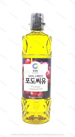 Масло из виноградных косточек рафинированное, Корея. 500 мл.