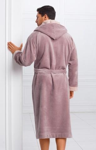 Мужской бамбуковый халат с капюшоном 11008-1 Laete