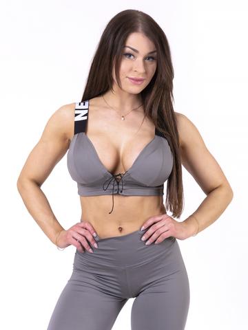 Женский топ Nebbia lace-up sport bra 694 metal