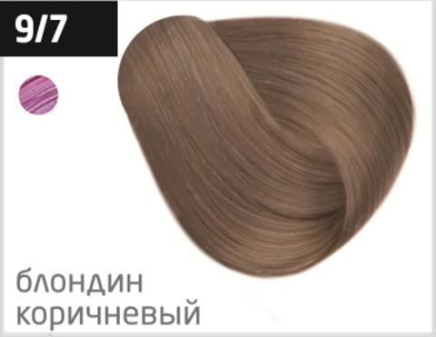 OLLIN performance 9/7 блондин коричневый 60мл перманентная крем-краска для волос
