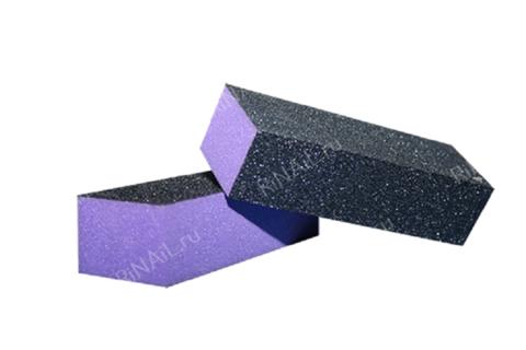 Бафик для ногтей черно-фиолетовый