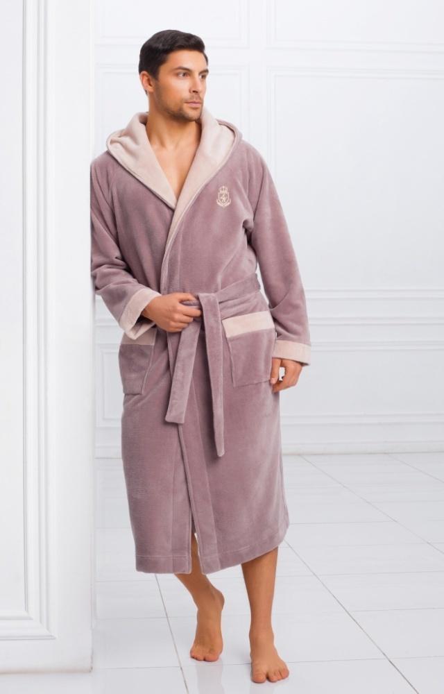 Халаты мужские Мужской бамбуковый халат с капюшоном 11008-1 Laete 11008-1.jpeg