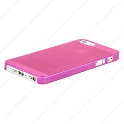 Накладка Sotomore супертонкая для iPhone SE/ 5s/ 5C/ 5 розовая