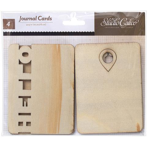 Деревянный чипборд Journal Cards для Project Life