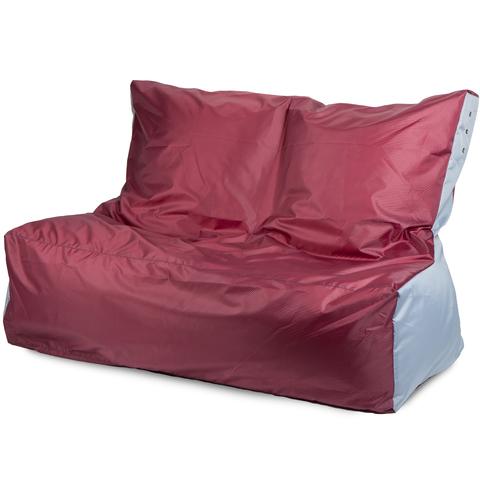 Бескаркасное кресло «Диван», Бордовый и серый