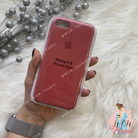 Чехол iPhone 7/8 Silicone Case /camellia/ винный 1:1