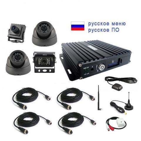 Комплект видеонаблюдения для автошколы NSCAR401HD (4G+GPS+WiFi)