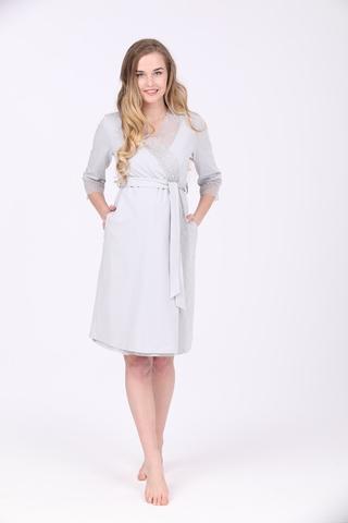 Халат для беременных 09977 серый
