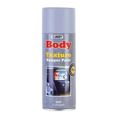 Body Краска текстурная для бампера серая  400мл (спрей)