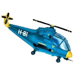 F Мини-фигура Вертолет (синий) 14