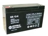 Аккумулятор General Security GS 12-6 ( GS6-12.0 ) ( 6V 12Ah / 6В 12Ач ) - фотография