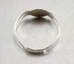 Основа для кольца с круглой площадкой 8 мм (цвет - серебро)