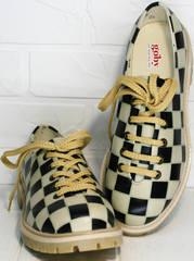 Женские туфли в шахматную клетку Goby TMK6506