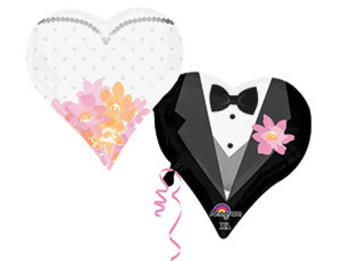 Фольгированный шар Сердца свадебные