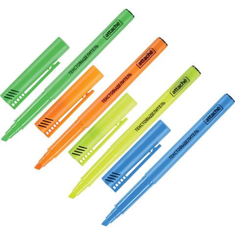 Набор текстовыделителей Attache (толщина линии 1-3 мм, 4 цвета)