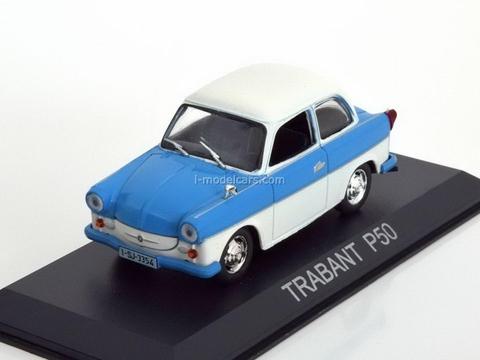 Trabant P50 blue-white 1:43 DeAgostini Masini de legenda #15