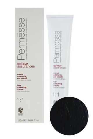 Крем-краска для волос 2.0 Супер темный каштан Permesse, Barex