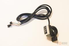 Ручка газа (под палец) - Курок серый с индикатором